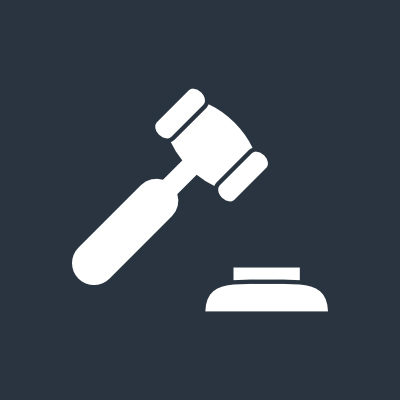wrongful death gavel icon
