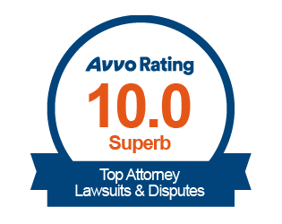 10 out of 10 rating for the top attorney in lawsuits and disputes