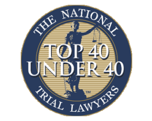 top 40 under 40 trial lawyers logo